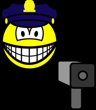 Lazer gun cop smile