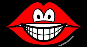 Lips smile