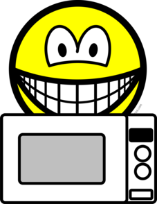 Microwaving smile