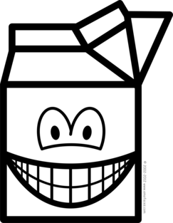Milk carton smile
