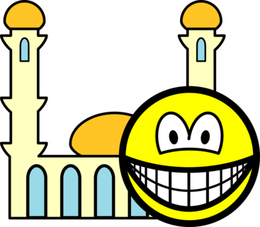 Mosque going smile