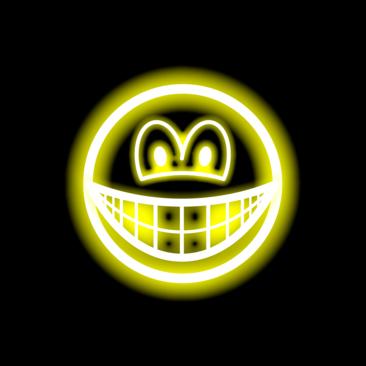 Neon light smile