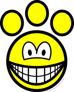 Paw print smile