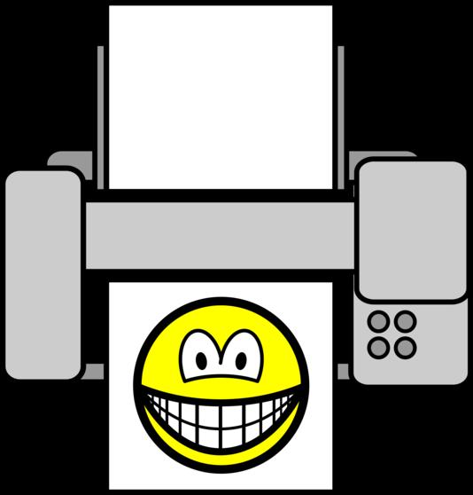 Printed smile
