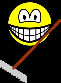 Raking smile