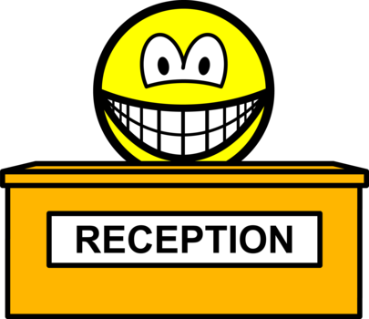 Reception smile