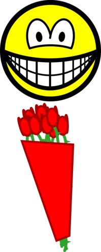 Red roses smile
