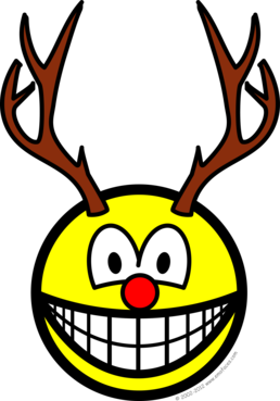 Rudolph the red nosed reindeer smile