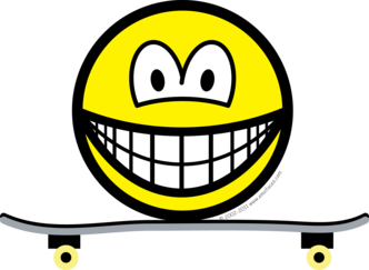 Skateboarding smile