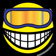 Skier smile