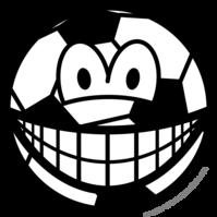 Soccer ball smile
