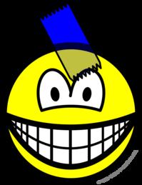 Sticky taped smile