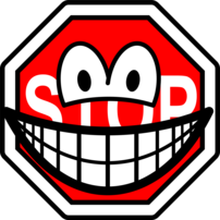 Stop sign smile