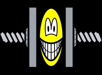 Stressed smile