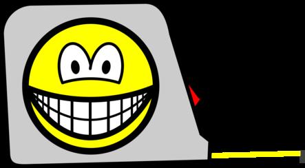 Tape measure smile