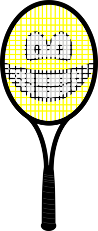 Tennis racket smile