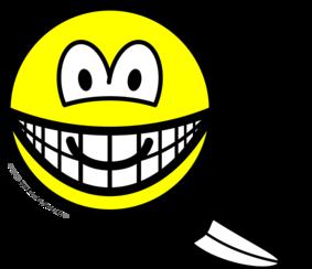 Tickled smile