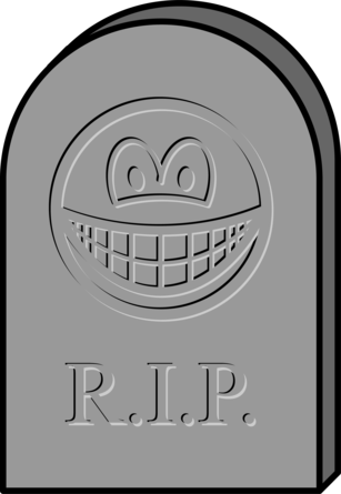 Tombstone smile