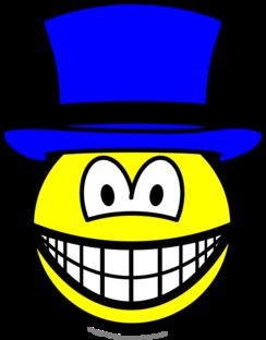 Blue hat smile