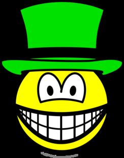 Green hat smile