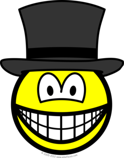 Top hat smile