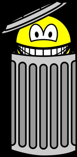Trash can smile