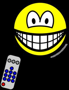 Tv remote smile