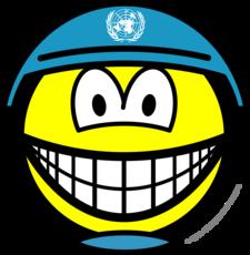 UN soldier smile