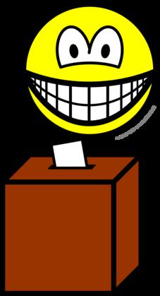 Voting smile