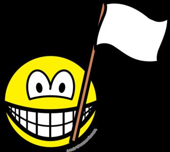 White flag smile
