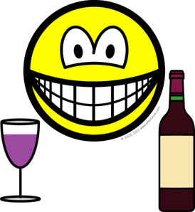 Wine drinking smile