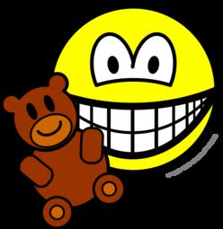 Teddy bear toy smile