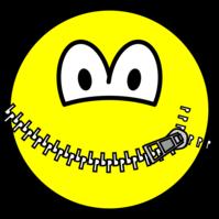 Zipped up smile