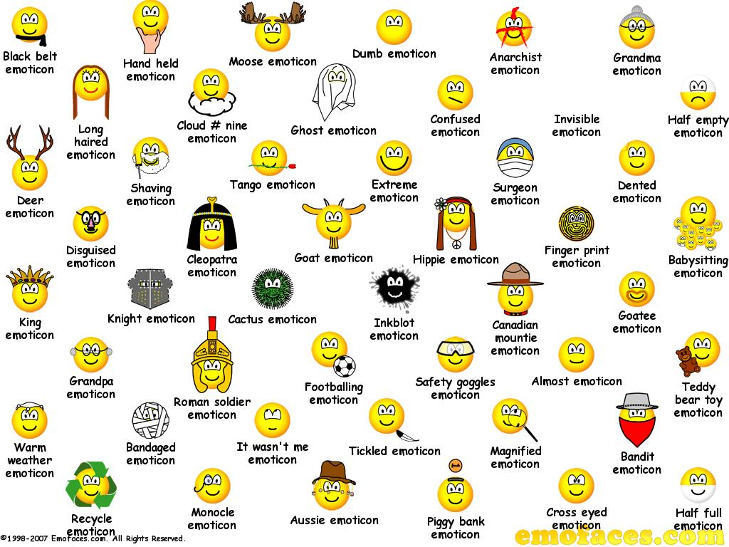 Free Emofaces Desktop Wallpaper Emoticons Buddy Icons And Smilies