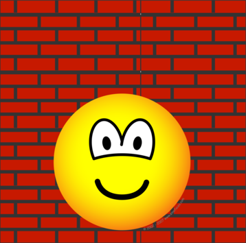 Against the wall emoticon