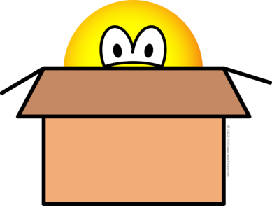 Cardboard boxed emoticon