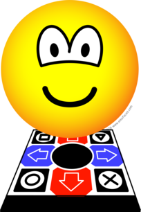 Dance dance revolution emoticon
