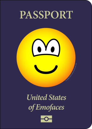 Passport emoticon