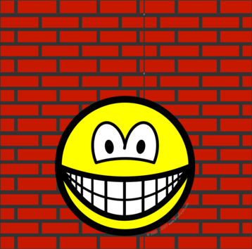 Against the wall smile